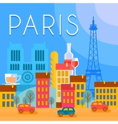 Paris city background vector