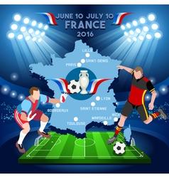 Euro france 2016 championship vector