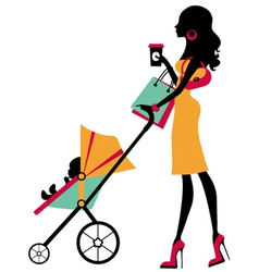 Fashion mom vector image