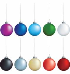 baubles on strings vector image