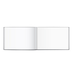 blank of open album with cover on white background vector image vector image