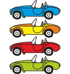 cartoon retro sport cars vector image vector image
