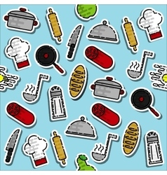 Colored cooking pattern vector image