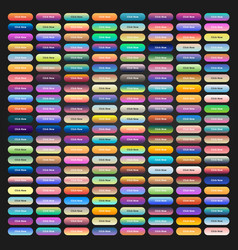 colored web buttons with different gradients vector image vector image