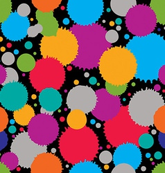 Colorful splattered web design repeat pattern art vector image