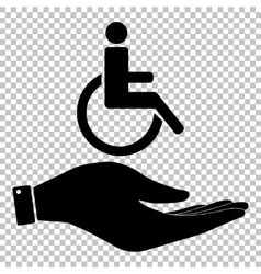Disabled sign save or protect symbol vector