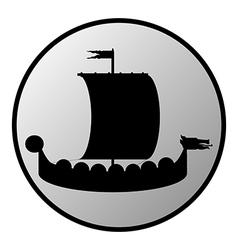 Drakkar button vector image