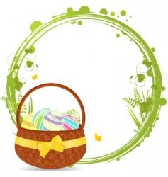 Easter basket border vector image vector image