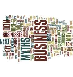 Entrepreneurial myths the truth behind them text vector