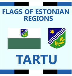 Flag of estonian region tartu vector