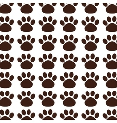 Foot print mascot pattern vector