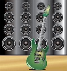 guitar loudspeaker vector image