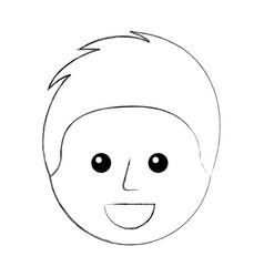 happy young boy avatar member community vector image