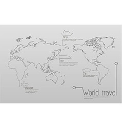 Infographic travel and education concept vector image vector image