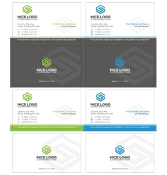 Letter s business card 2 vector