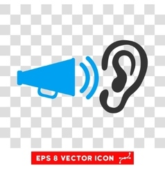 Listen Advertisement Megaphone Eps Icon vector image