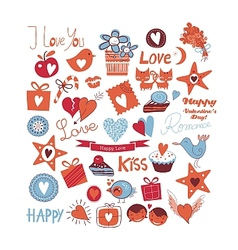 Love Set vector image vector image