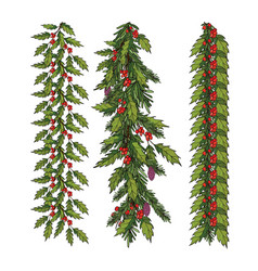 new year and christmas decoration vector image vector image