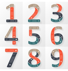 Numbers infographics font diagrams vector