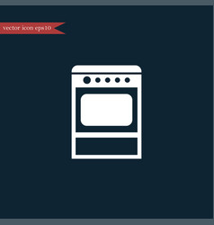oven icon simple furniture sign vector image vector image