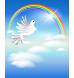pigeon or peace dove vector image vector image