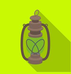 portable kerosene lampafrican safari single icon vector image