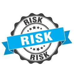 Risk stamp sign seal vector