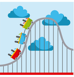 Roller coaster carnival amusement park image vector
