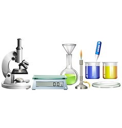 Science beakers and other equipment vector image vector image