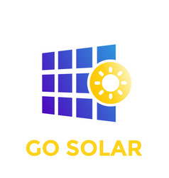 solar panel icon logo vector image vector image