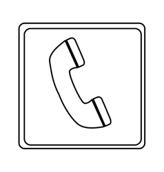 Telephone sign isolated icon vector