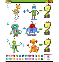 Mathematical educational activity vector