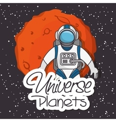 Universe planets space concept vector