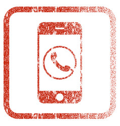 smartphone phone framed textured icon vector image