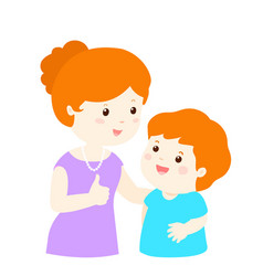 Mother admire son character cartoon vector