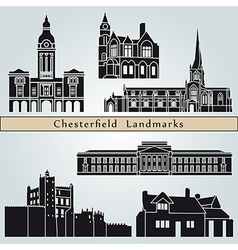 Chesterfield landmarks and monuments vector