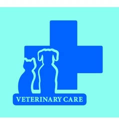Isolated veterinary care blue icon vector