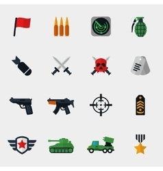Military and war icons flat vector