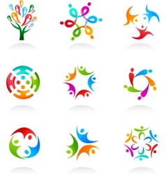 collection of social media icons vector image