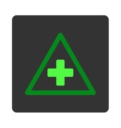 Health warning flat button vector