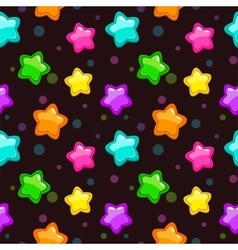 Seamless pattern with colorful bright stars vector