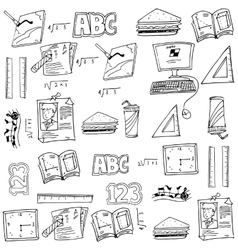 Hand draw art school doodles vector