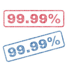 9999 percent textile stamps vector