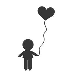 Avatar boy with balloon vector