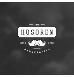 Barber shop logotype design element in vintage vector