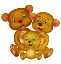 Bear family cartoon vector