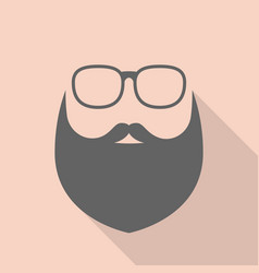 beard and glasses vector image vector image