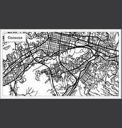 Caracas venezuela city map in black and white vector