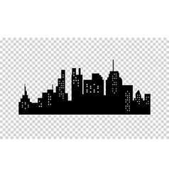City Silhouette vector image vector image