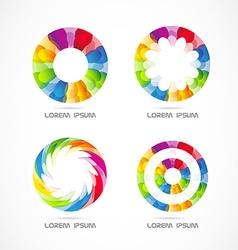 Colored circle logo set vector image vector image